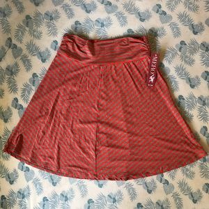 Merona Red and Grey Chevron Striped Skirt